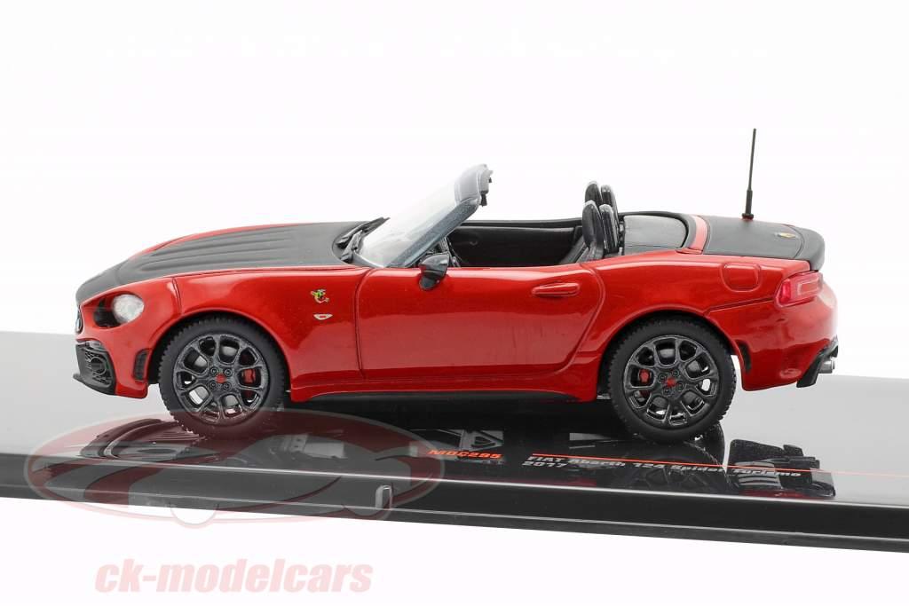 Fiat Abarth 124 Spider Turismo Bouwjaar 2017 rood / zwart 1:43 Ixo