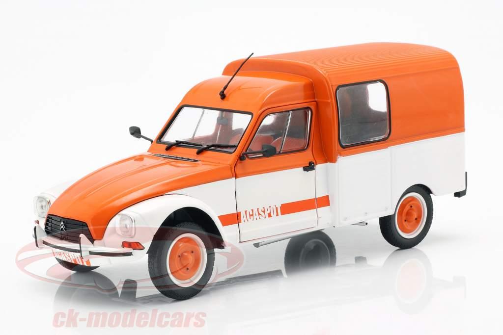 Citroen Acadiane Acaspot weiß / orange 1:18 Solido