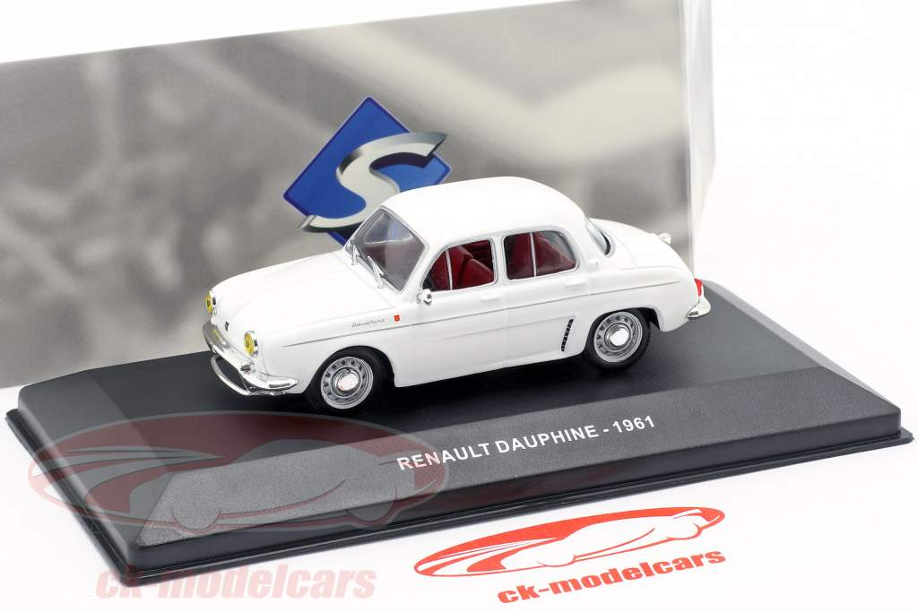 Renault Dauphine ano de construção 1961 branco 1:43 Solido