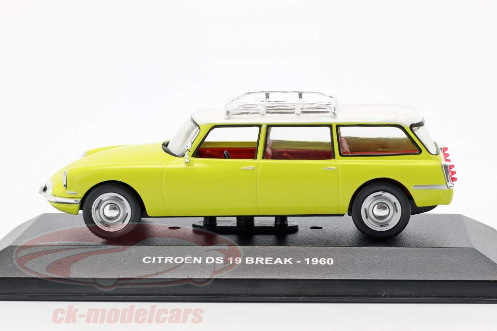 Citroen DS19 Break anno di costruzione 1960 giallo / bianco 1:43 Solido