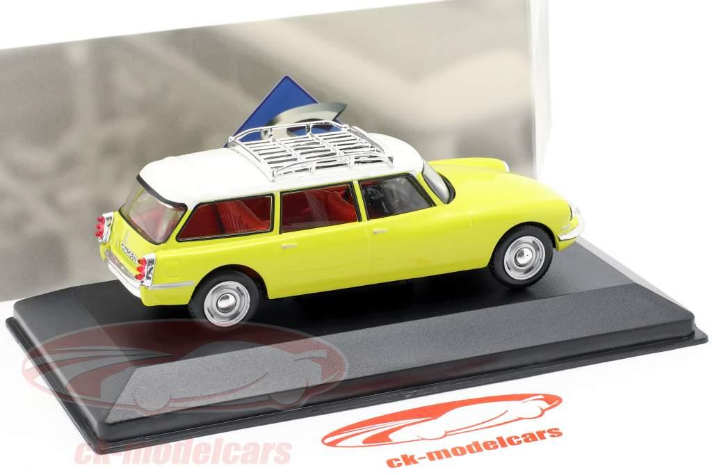 Citroen DS19 Break année de construction 1960 jaune / blanc 1:43 Solido