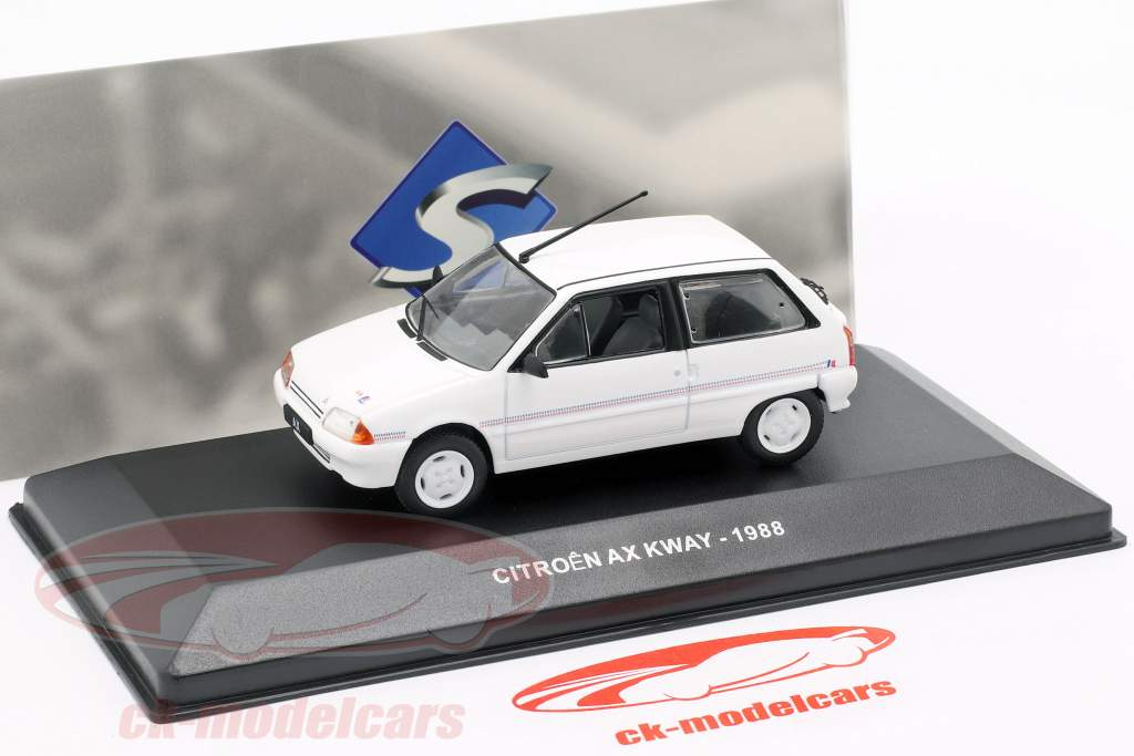 Citroen AX Kway year 1988 white 1:43 Solido
