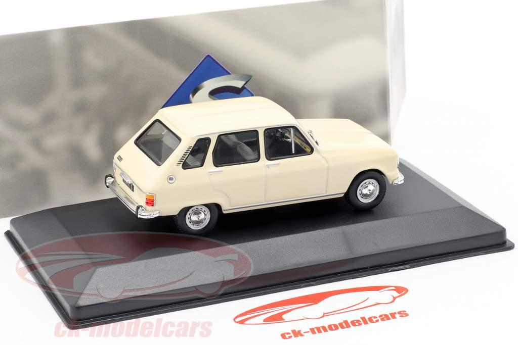 Renault 6 ano de construção 1970 creme branco 1:43 Solido
