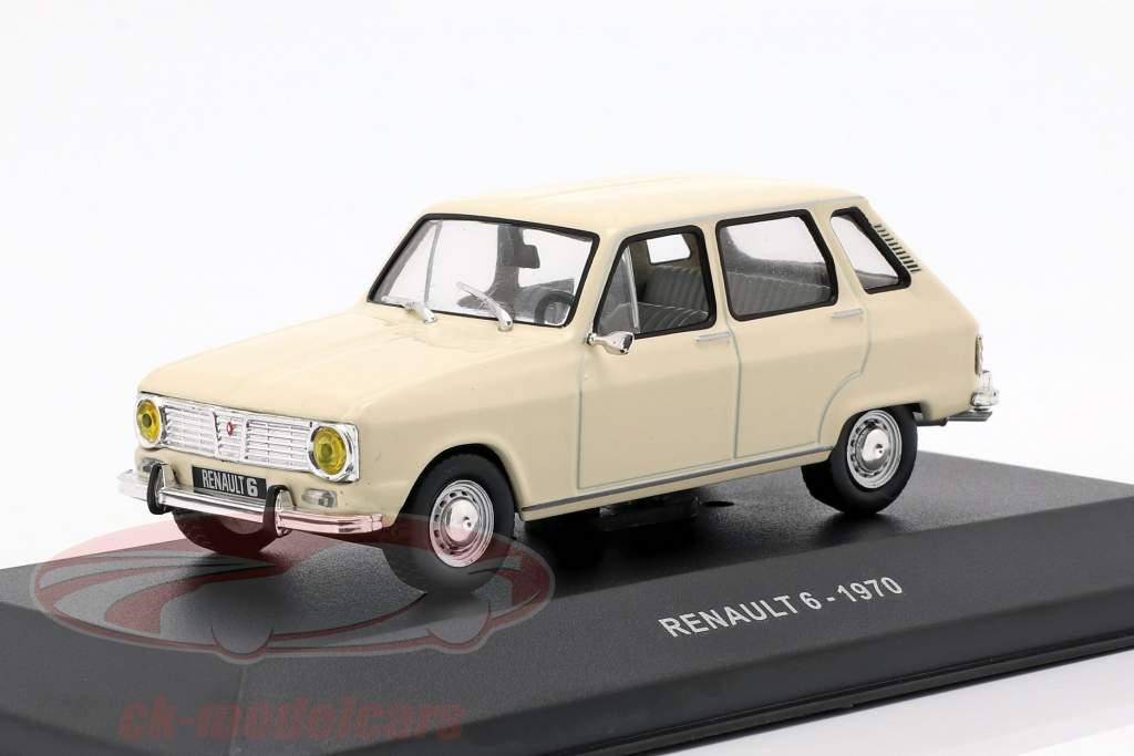 Renault 6 anno di costruzione 1970 crema bianco 1:43 Solido