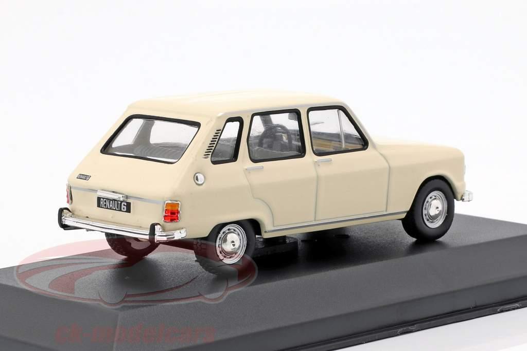 Renault 6 Opførselsår 1970 creme hvid 1:43 Solido