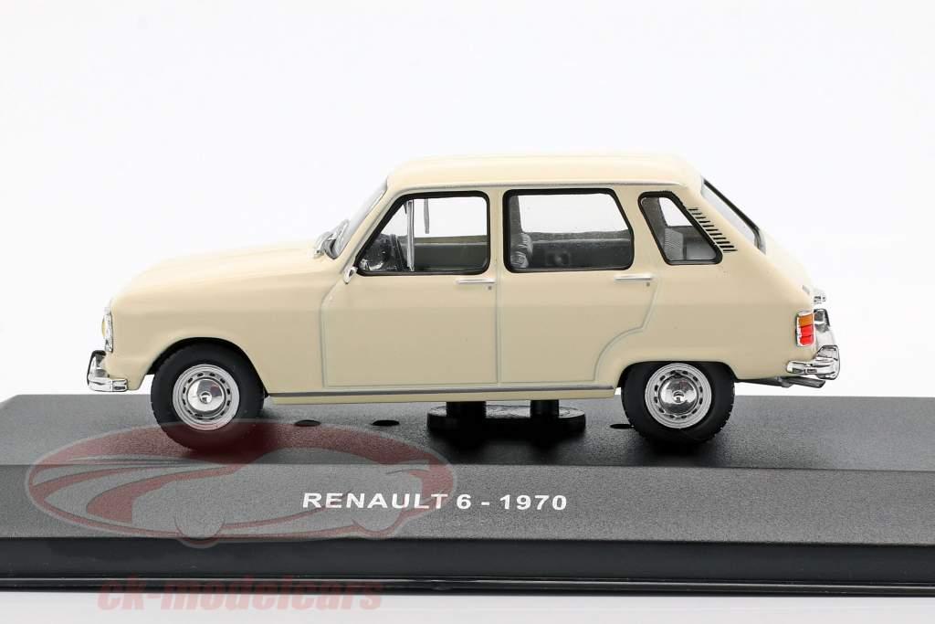 Renault 6 Bouwjaar 1970 crème wit 1:43 Solido
