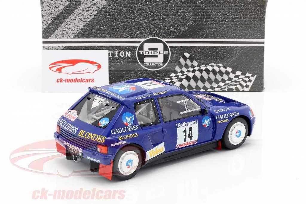 Peugeot 205 T16 #14 Rallye Tour de Corse 1985 Darniche, Mahe 1:18 Triple9