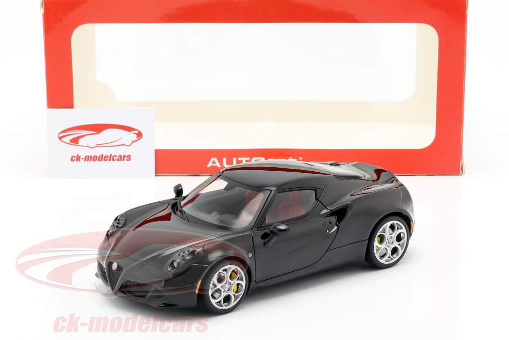 Alfa Romeo 4C jaar 2013 zwart 1:18 AUTOart