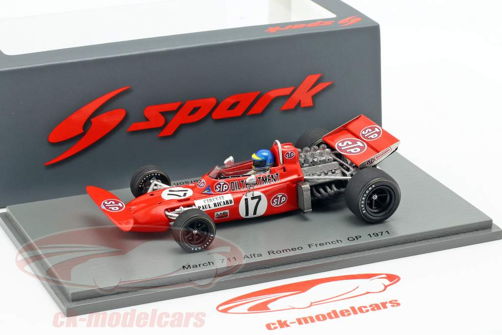 Ronnie Peterson March 711 #17 French GP formula 1 1971 1:43 Spark
