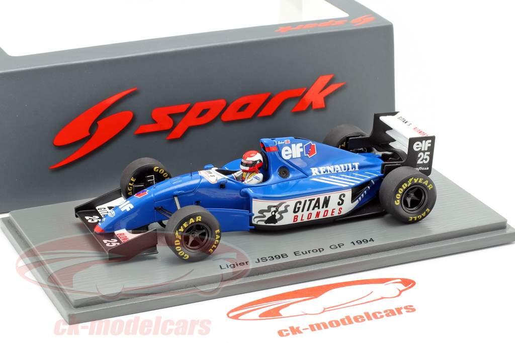 Johnny Herbert Ligier JS39B #25 europeu GP fórmula 1 1994 1:43 Spark