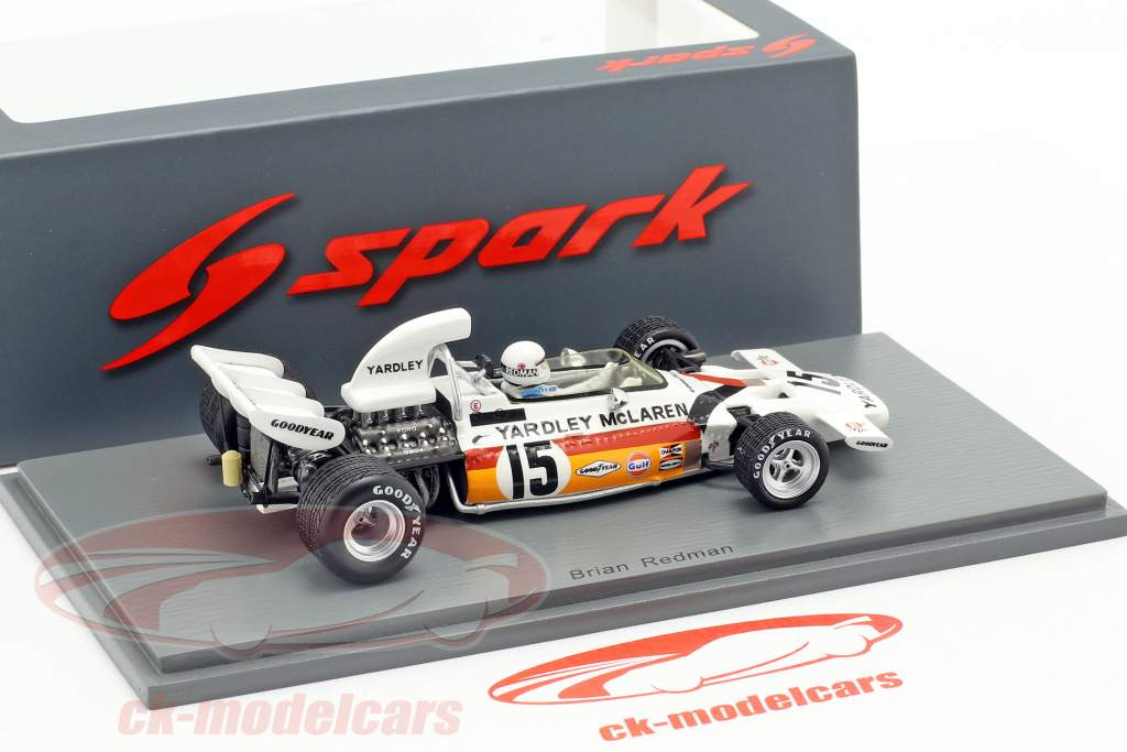 Brian Redman McLaren M19 #15 5 ° Monaco GP formula 1 1972 1:43 Spark