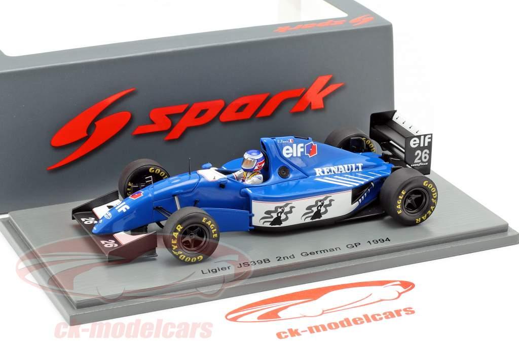 Olivier Panis Ligier JS39B #26 2e Duits GP formule 1 1994 1:43 Spark