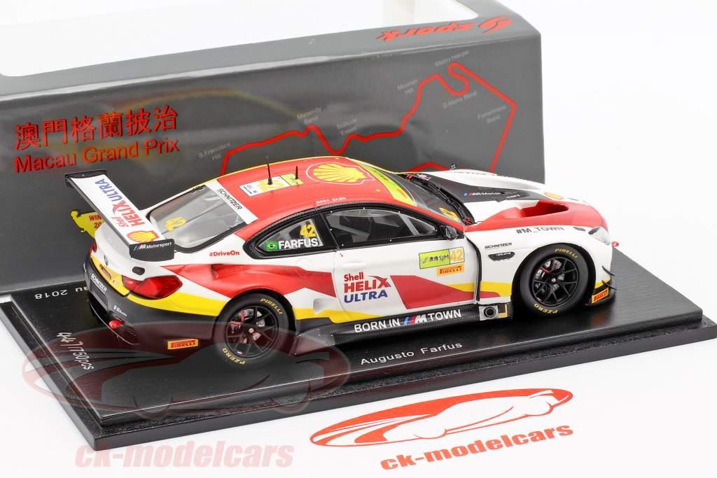 BMW M6 GT3 #42 ganador FIA GT World Cup Macau 2018 Augusto Farfus 1:43 Spark