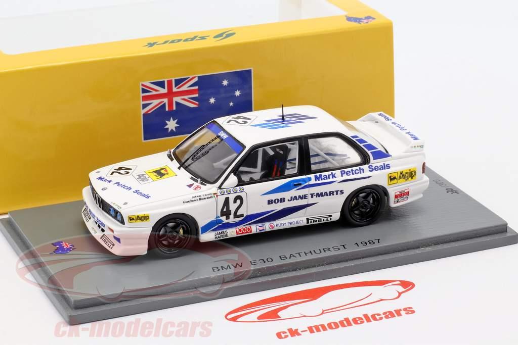 BMW M3 (E30) #42 gagnant Bathurst WTCC 1987 Cecotto, Brancatelli 1:43 Spark