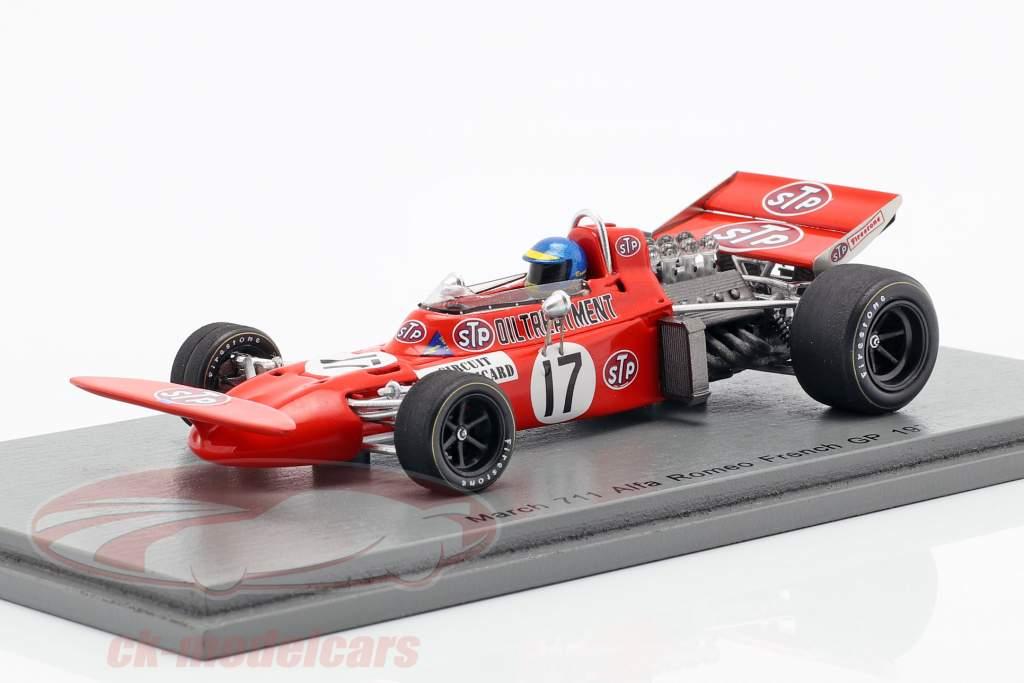 Ronnie Peterson March 711 #17 francês GP fórmula 1 1971 1:43 Spark