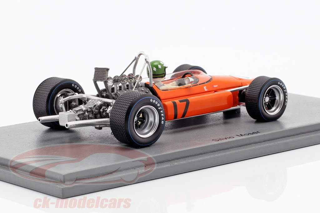 Silvio Moser Brabham BT24 #17 Monaco GP formel 1 1969 1:43 Spark