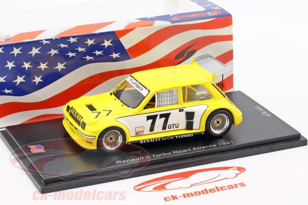 Renault 5 Turbo #77 3rd Road Atlanta IMSA GTU 1981 P. Jacquemart 1:43 Spark