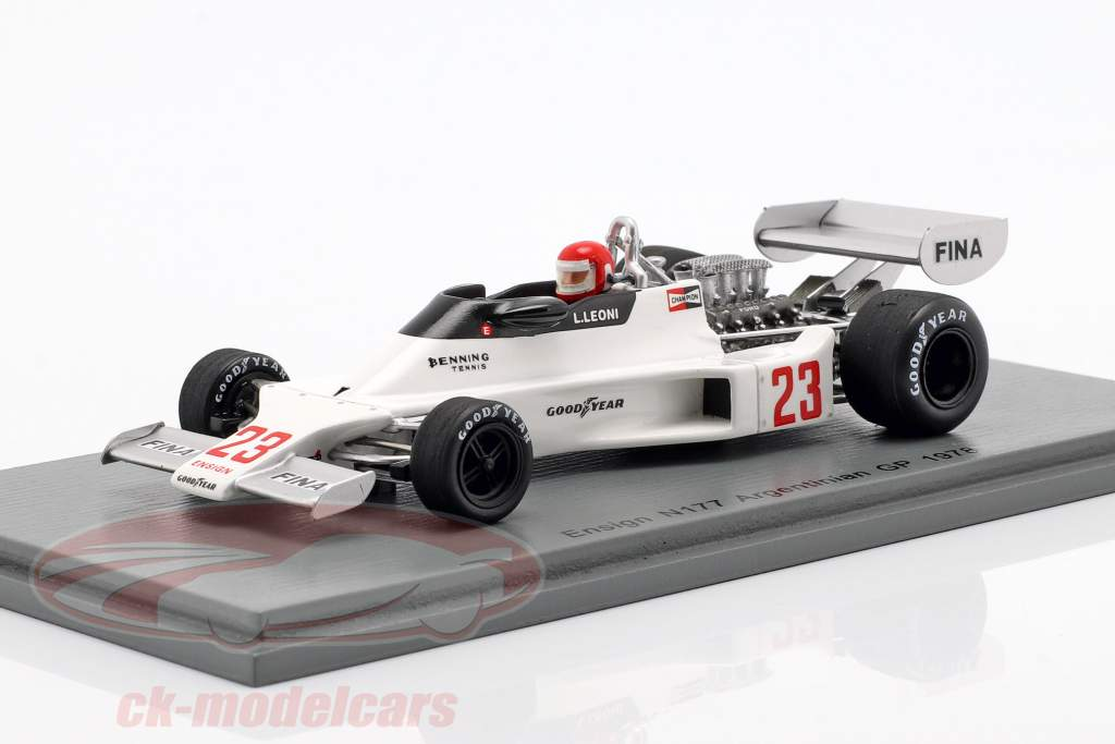 Lamberto Leoni Ensign N177 #23 Argentinian GP Formel 1 1978 1:43 Spark