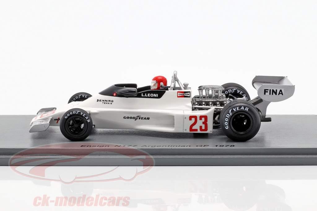 Lamberto Leoni Enseigne N177 N° 23 Argentinian GP Formula 1 1978 1:43 Spark