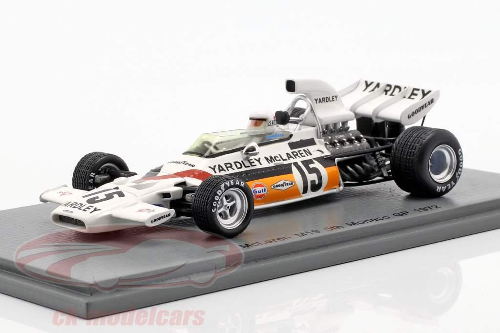 Brian Redman McLaren M19 #15 5e Monaco GP formule 1 1972 1:43 Spark