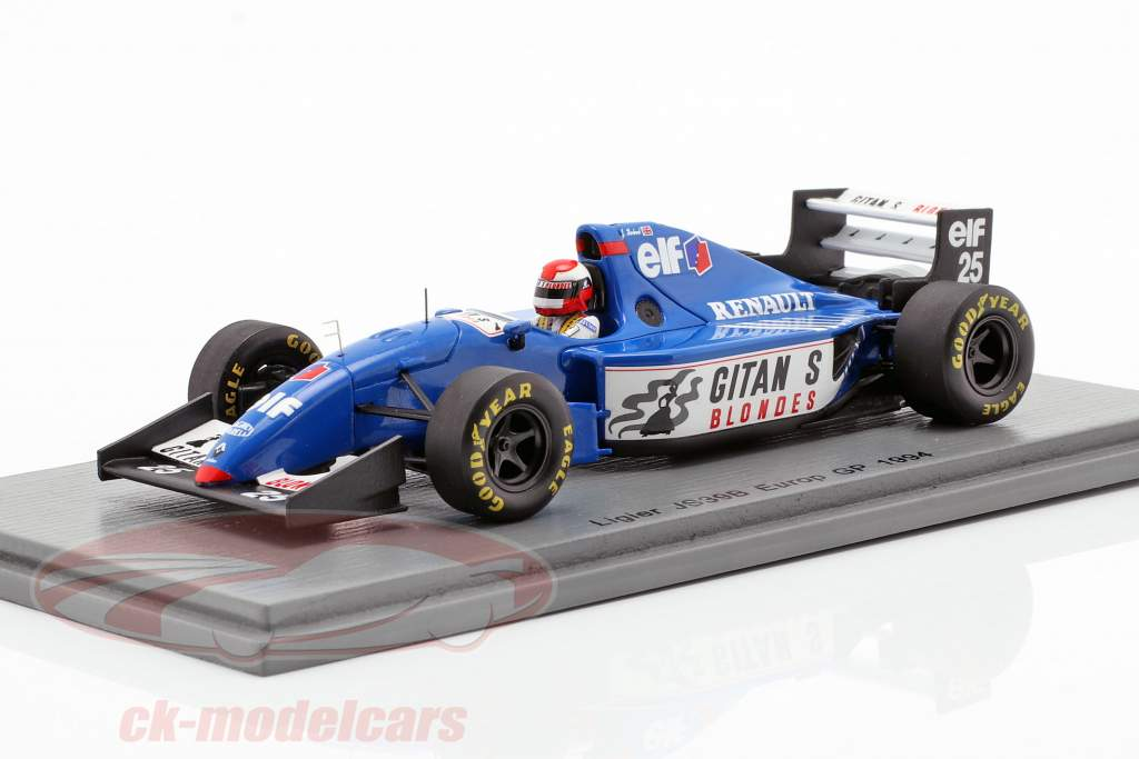 Johnny Herbert Ligier JS39B #25 europeo GP fórmula 1 1994 1:43 Spark