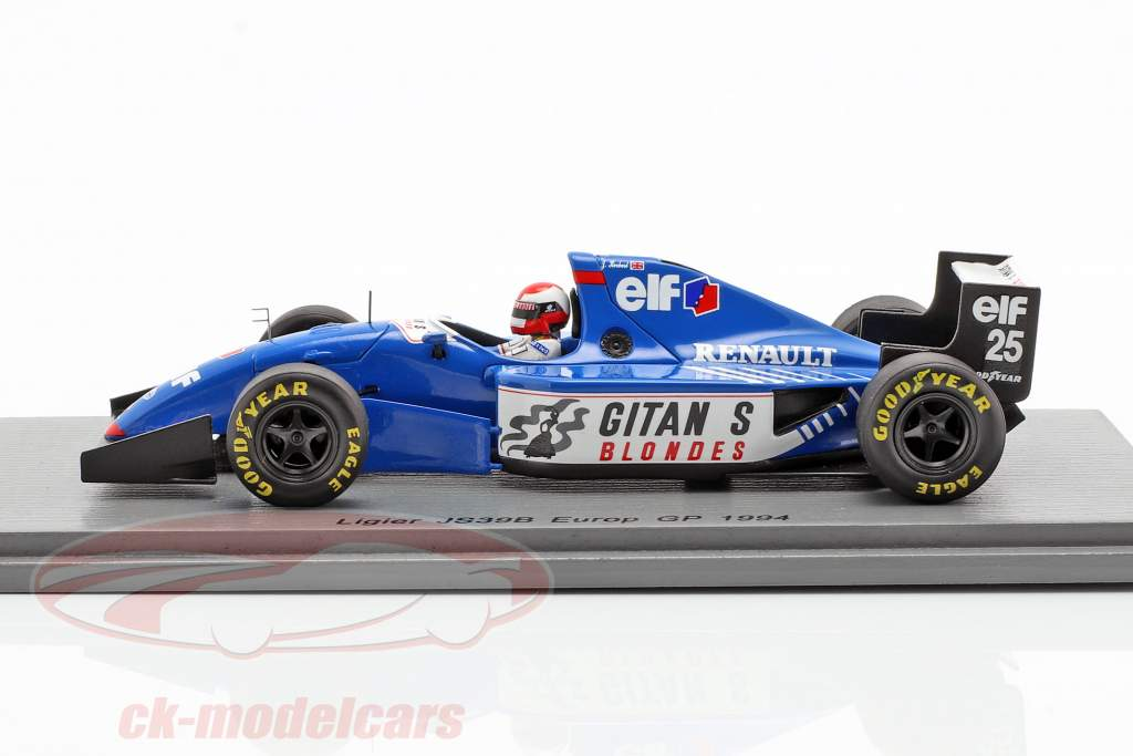 Johnny Herbert Ligier JS39B #25 europeo GP formula 1 1994 1:43 Spark