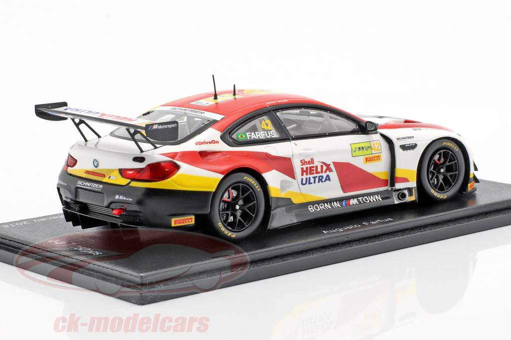 BMW M6 GT3 #42 Vinder FIA GT World Cup Macau 2018 Augusto Farfus 1:43 Spark