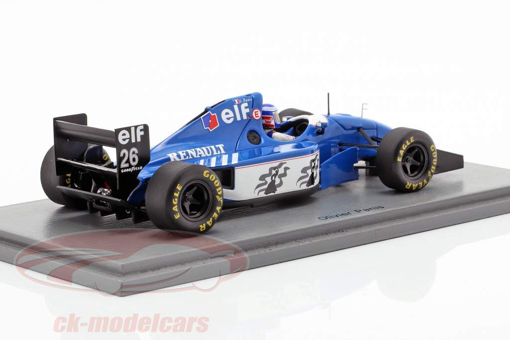 Olivier Panis Ligier JS39B #26 segundo alemán GP fórmula 1 1994 1:43 Spark