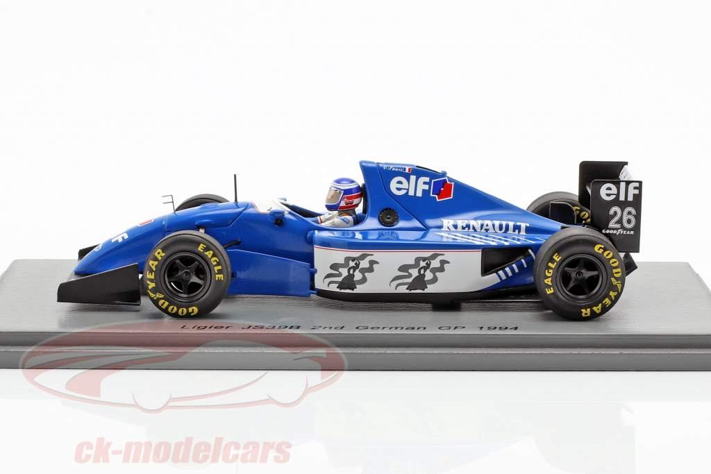 Olivier Panis Ligier JS39B #26 2nd Deutschland GP Formel 1 1994 1:43 Spark