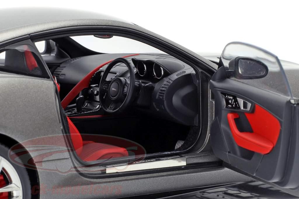 Jaguar F-Type R Coupe An 2015 mat gris 1:18 AUTOart