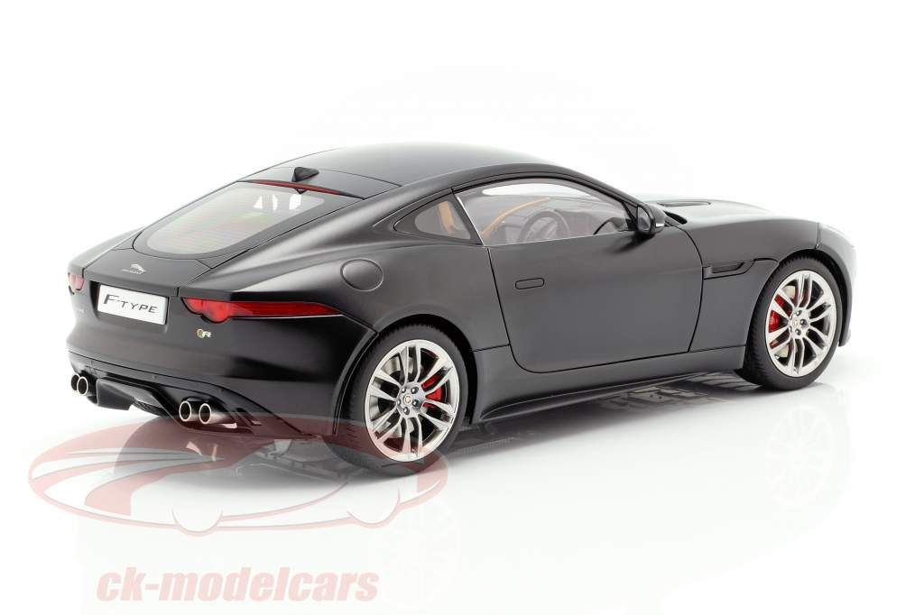 Jaguar F-Type R Coupe Ano 2015 matt preto 1:18 AUTOart