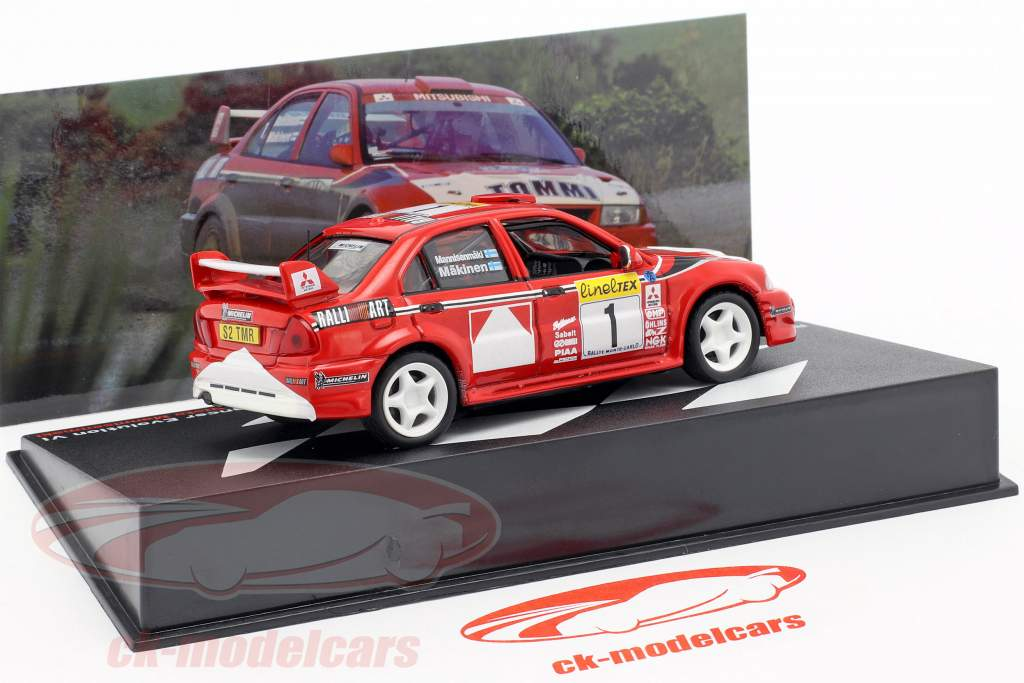 Mitsubishi Lancer Evo VI #1 Vinder Rallye Monte Carlo 1999 Mäkinen, Mannisenmäki 1:43 Altaya