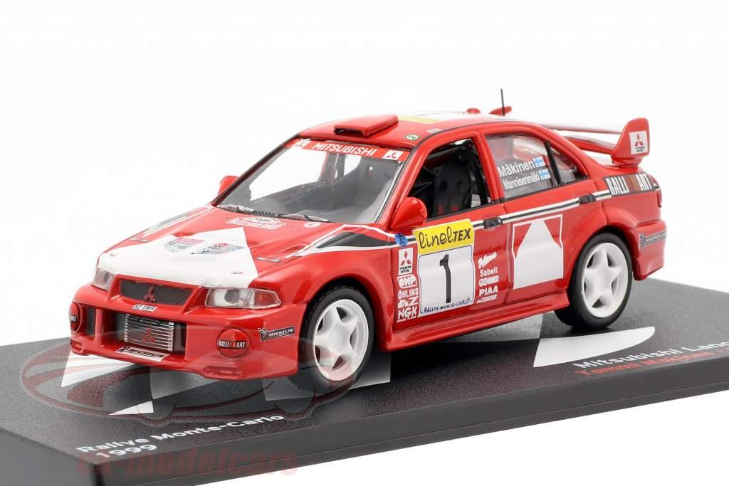 Mitsubishi Lancer Evo VI #1 winnaar Rallye Monte Carlo 1999 Mäkinen, Mannisenmäki 1:43 Altaya