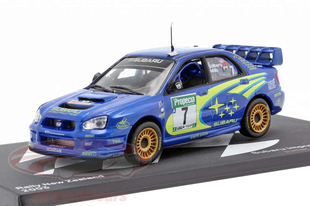 Subaru Impreza WRC #7 3e Rallye nieuw-Zeeland WRC kampioen 2003 Solberg, Mills 1:43 Altaya