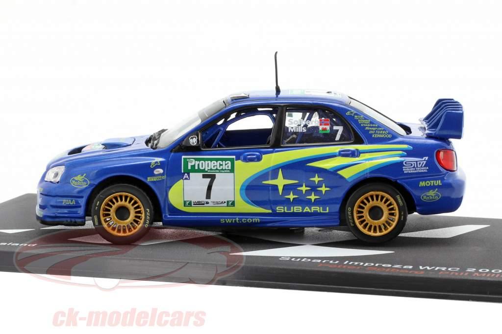Subaru Impreza WRC #7 3ª Rallye nova Zelândia WRC campeão 2003 Solberg, Mills 1:43 Altaya
