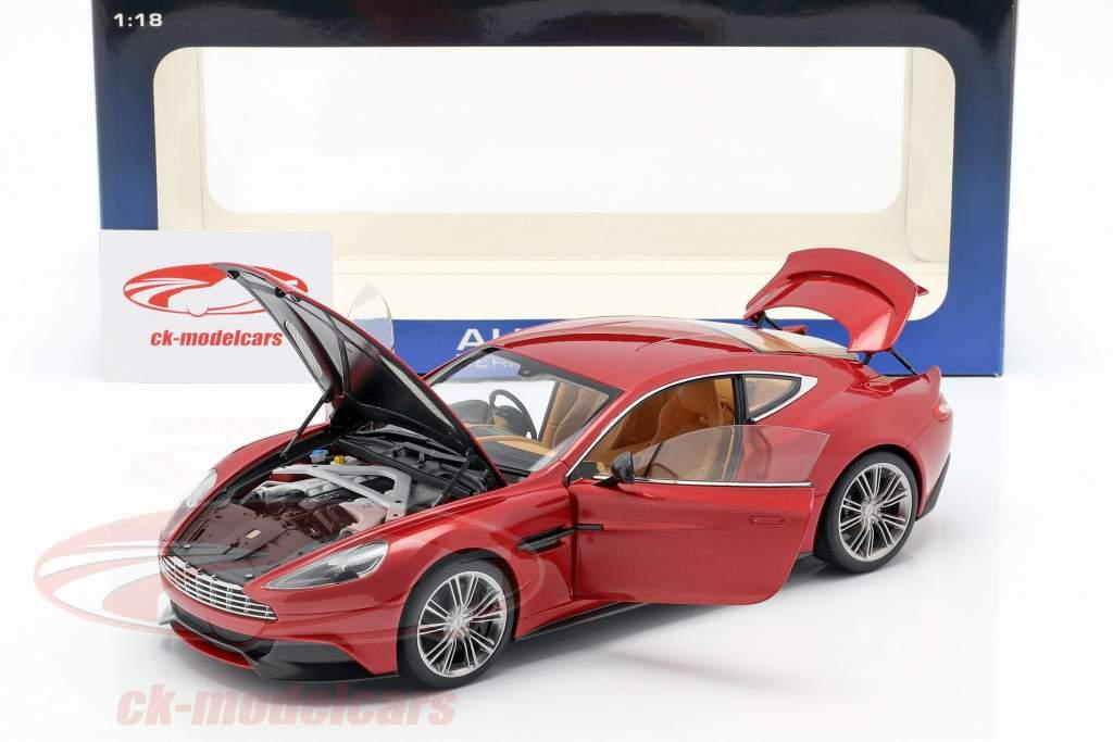 Aston Martin Vanquish jaar 2015 vulkaan rood 1:18 AUTOart