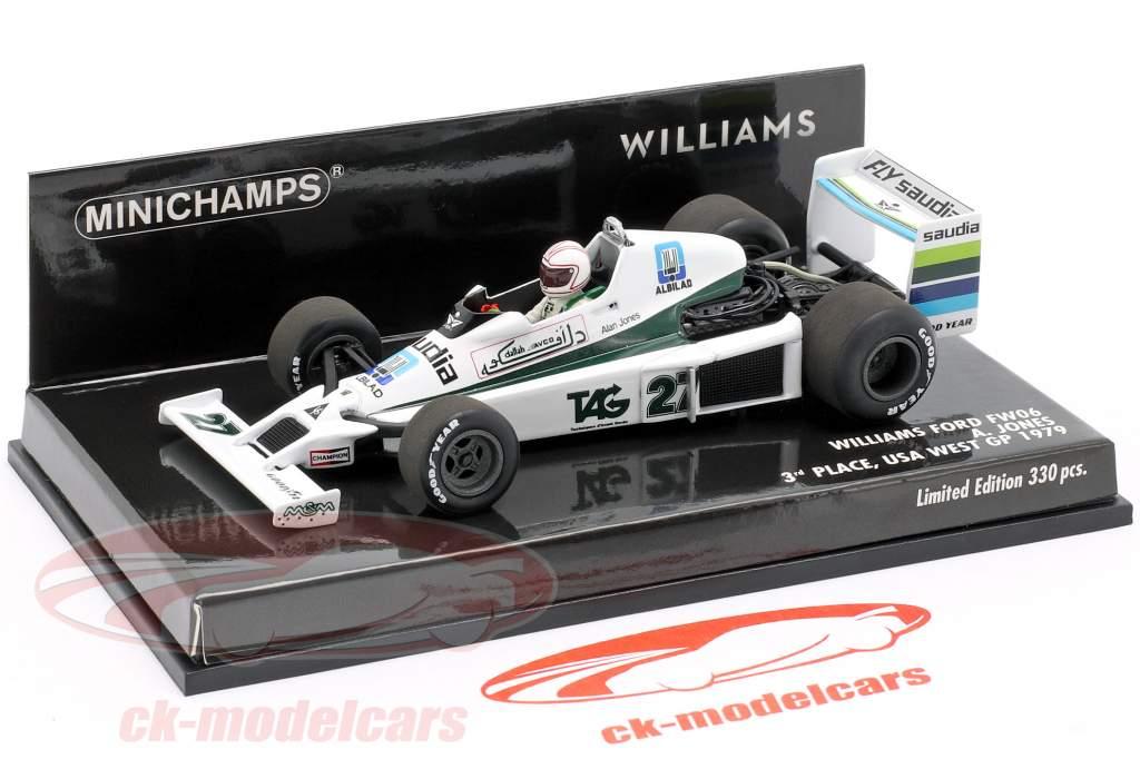 Alan Jones Williams FW06 #27 3rd United States west GP formula 1 1979 1:43 Minichamps