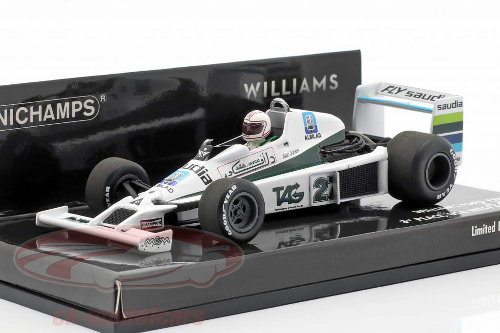 Alan Jones Williams FW06 #27 tercero EE.UU. oeste GP fórmula 1 1979 1:43 Minichamps