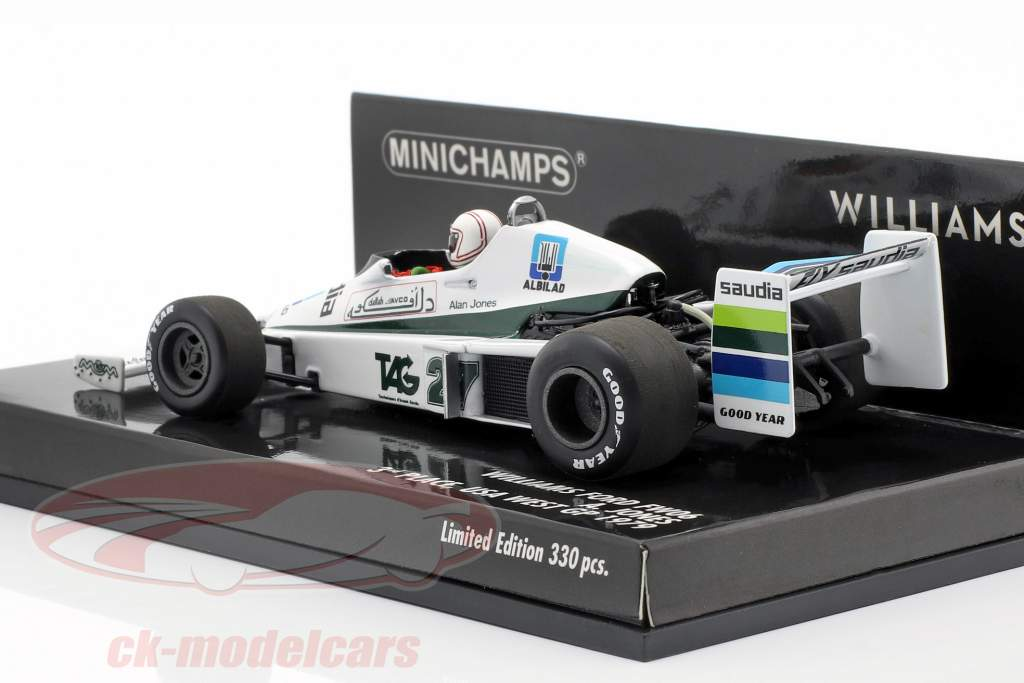 Alan Jones Williams FW06 #27 3ª EUA oeste GP fórmula 1 1979 1:43 Minichamps