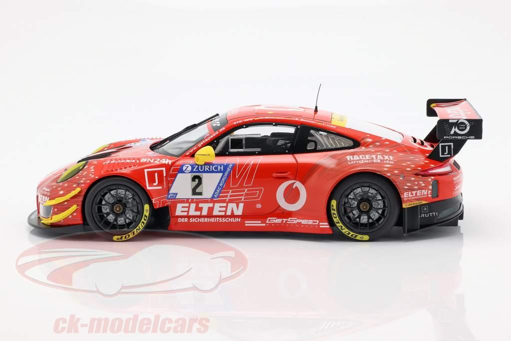 Porsche 911 (991) GT3 R #2 24h Nürburgring 2018 Gigaspeed Team 1:18 Minichamps