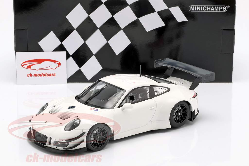 Porsche 911 (991) GT3 R Plain Body year 2018 white 1:18 Minichamps