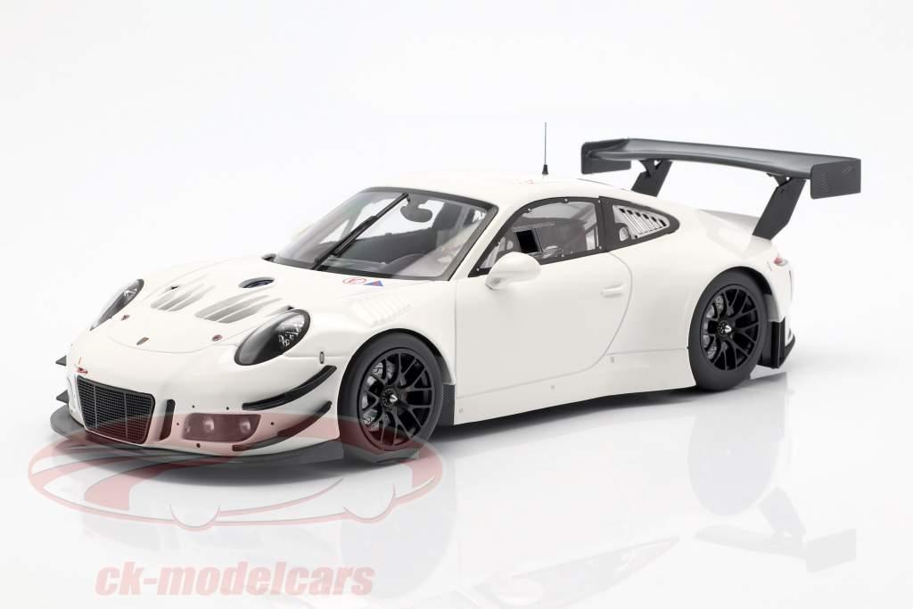 Porsche 911 (991) GT3 R Plain Body Baujahr 2018 weiß 1:18 Minichamps