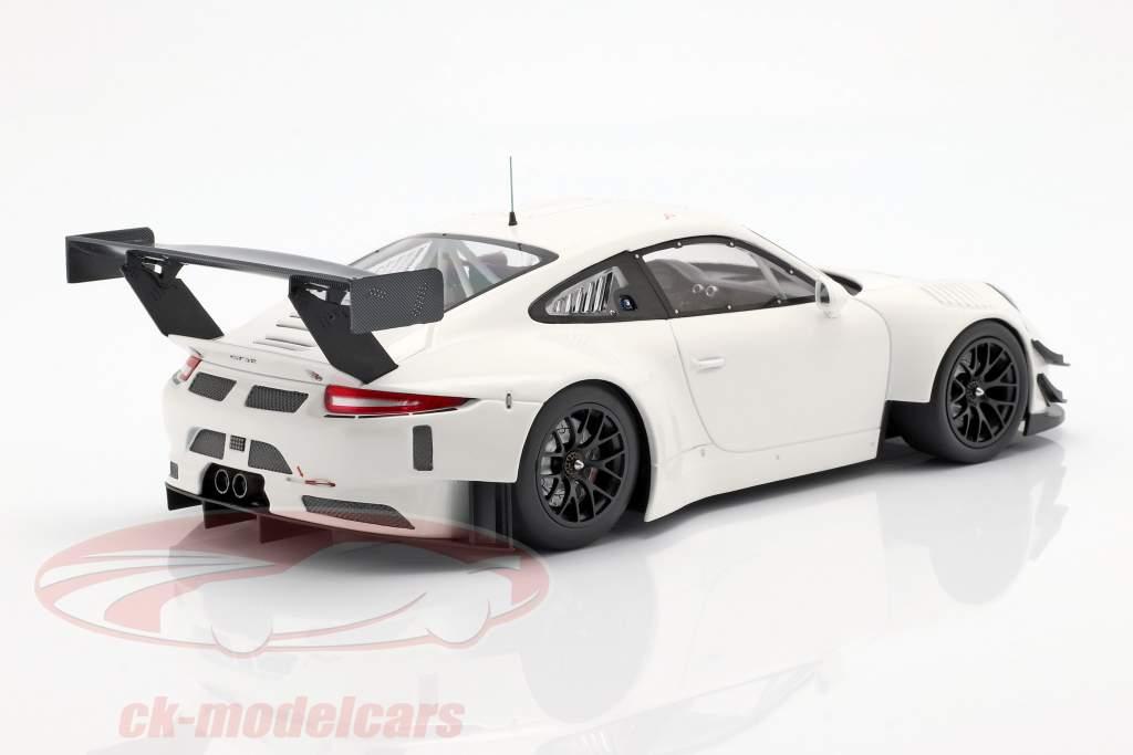 Porsche 911 (991) GT3 R Plain Body Opførselsår 2018 hvid 1:18 Minichamps