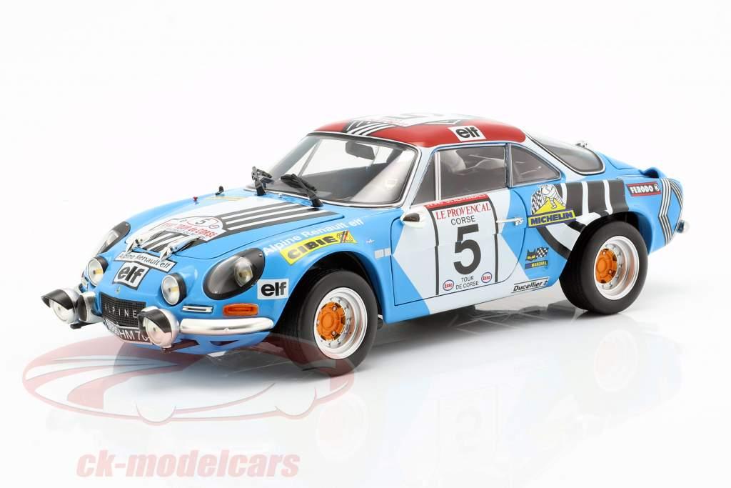 Alpine A110 #5 2 ° Rallye Tour de Corse 1973 Piot, De Alexandris 1:18 Kyosho