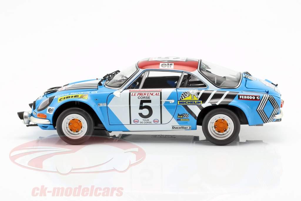 Alpine A110 #5 2e Rallye Tour de Corse 1973 Piot, De Alexandris 1:18 Kyosho
