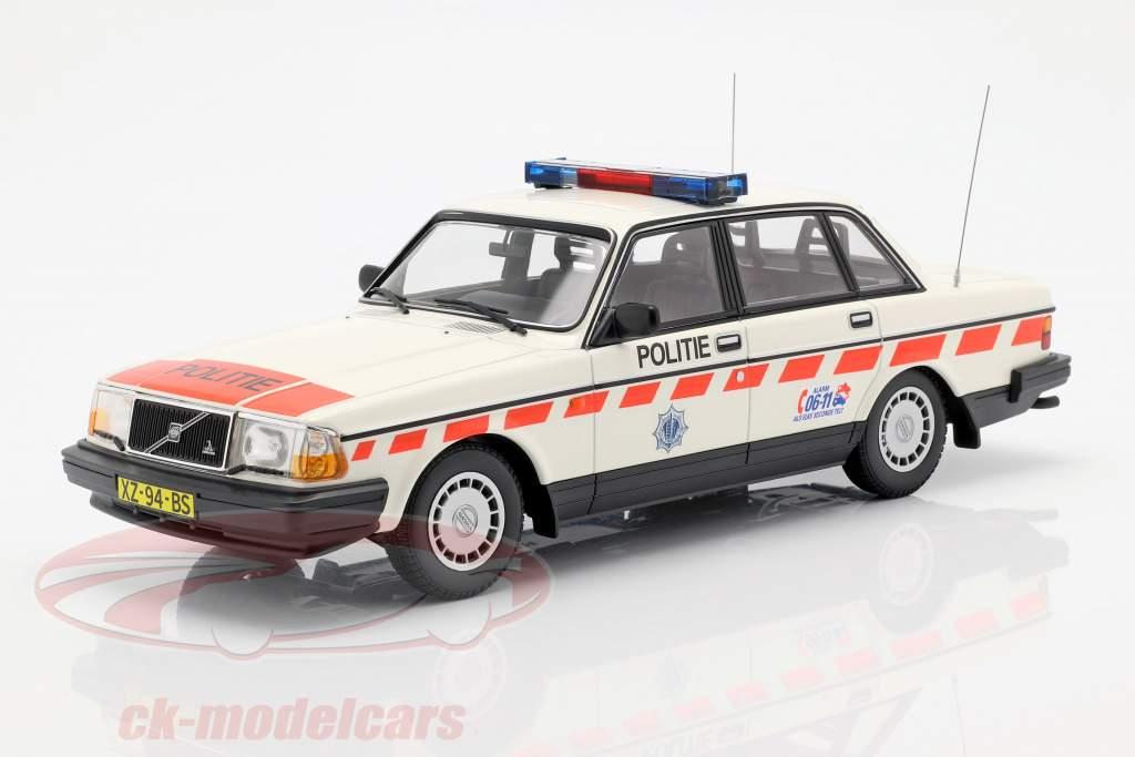 Volvo 240 GL polícia Holanda ano de construção 1986 branco 1:18 Minichamps