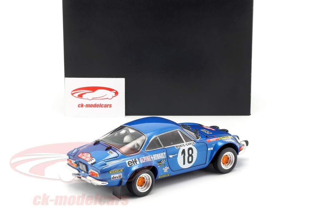 Alpine A110 #18 vincitore Rallye Monte Carlo 1973 Andruet, Biche 1:18 Kyosho
