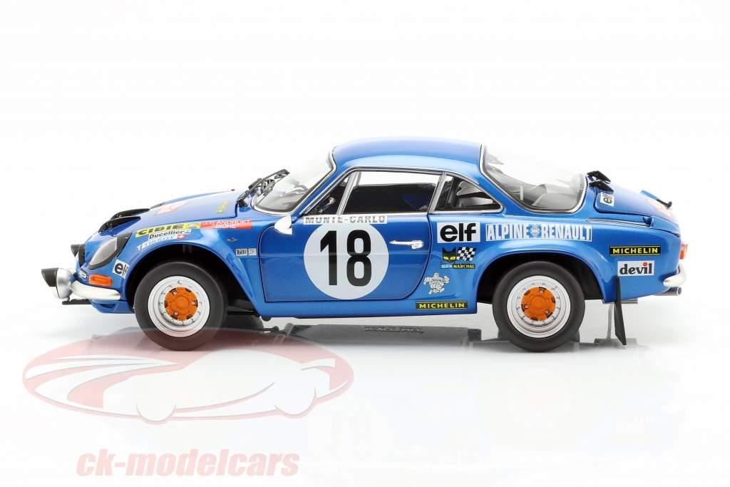 Alpine A110 #18 ganador Rallye Monte Carlo 1973 Andruet, Biche 1:18 Kyosho