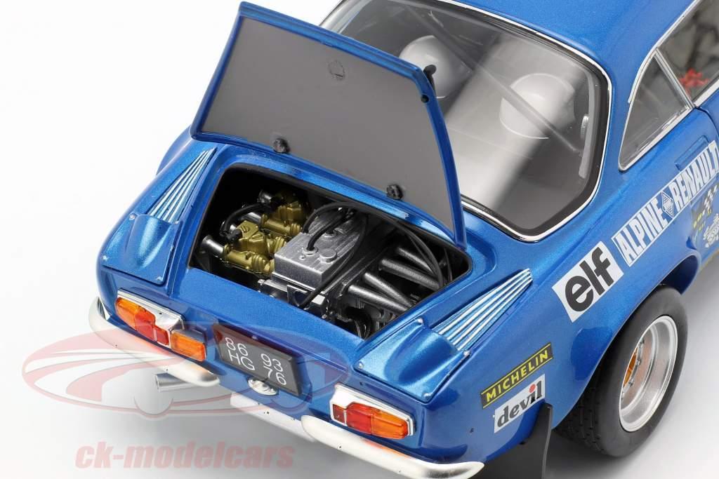 Alpine A110 #18 Vinder Rallye Monte Carlo 1973 Andruet, Biche 1:18 Kyosho