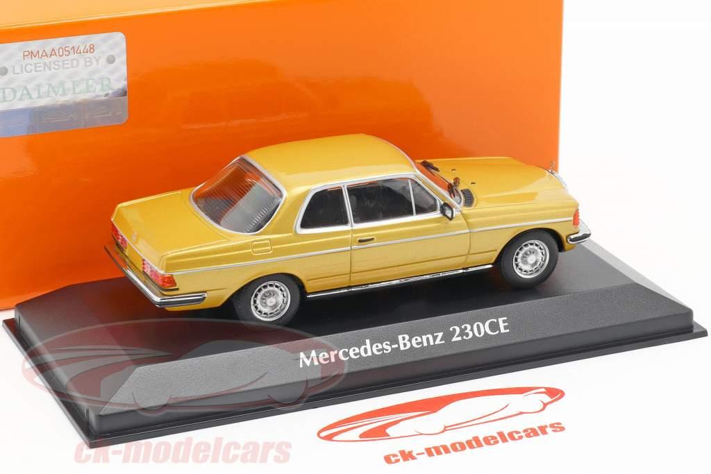 Mercedes-Benz 230CE (W123) year 1976 gold metallic 1:43 Minichamps